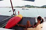Kayak of Charter catamaran Maquina Phuket Thailand