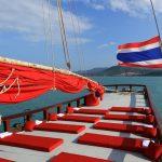 Charter Yacht with Thai flag
