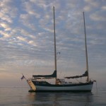 Sailing Yacht Freedom Fargo on anchor