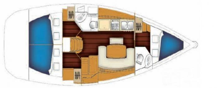 Bareboat Cyclades 39.5 Layout