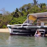 Bareboat Tiki 30 Beached