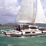 Bareboat Tiki 30 Sailing fast