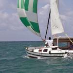 Bareboat Tiki 30 under spinacker