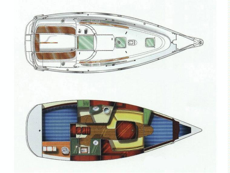 Bareboat Phuket Jeanneau SO 32 I Layout