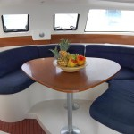 Salon of the Bareboat Catamaran