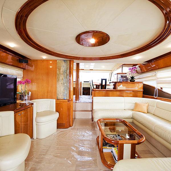 Salon of the Luxury Yacht