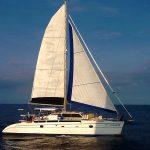 Sailing Catamaran Nakamal under sails
