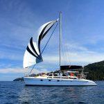 Sailing Catamaran under Spinnaker