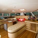 Salon of the Sailing Catamaran