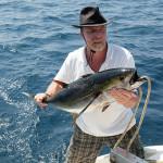 Captain with Yellowfin Tuna