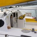 Cockpit of the Sailing Thailand Catamaran