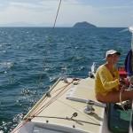 steering the Bareboat Tiki 38