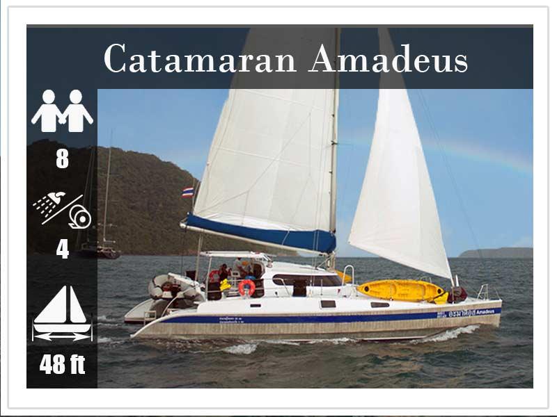 Crewed Yacht Charter Phuket Amadeus