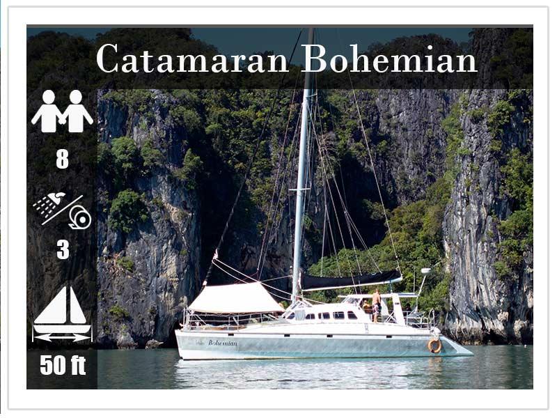 Crewed Yacht Charter Phuket Bohemian