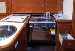 Hanse 315 Bareboat Charter Yacht Galley