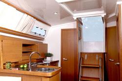 Hanse 355 Bareboat Charter Yacht Galley