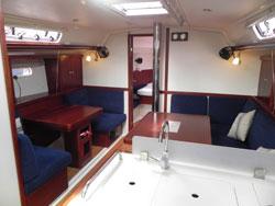 Hanse 400 Bareboat Charter Yacht Saloon