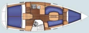 Bare Boat Charter Yacht Layout