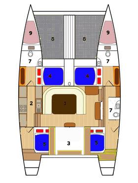 Yacht Charter Bohemian Layout