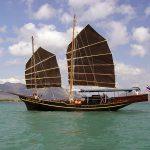 Junk cruising Phang Nga Bay
