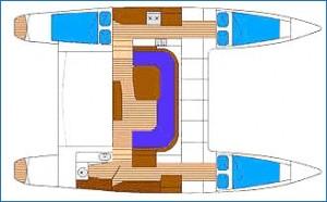 Layout of Bare Boat Charter yachts Chimera and Ceberus