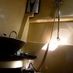 Bathroom of the charter catamaran
